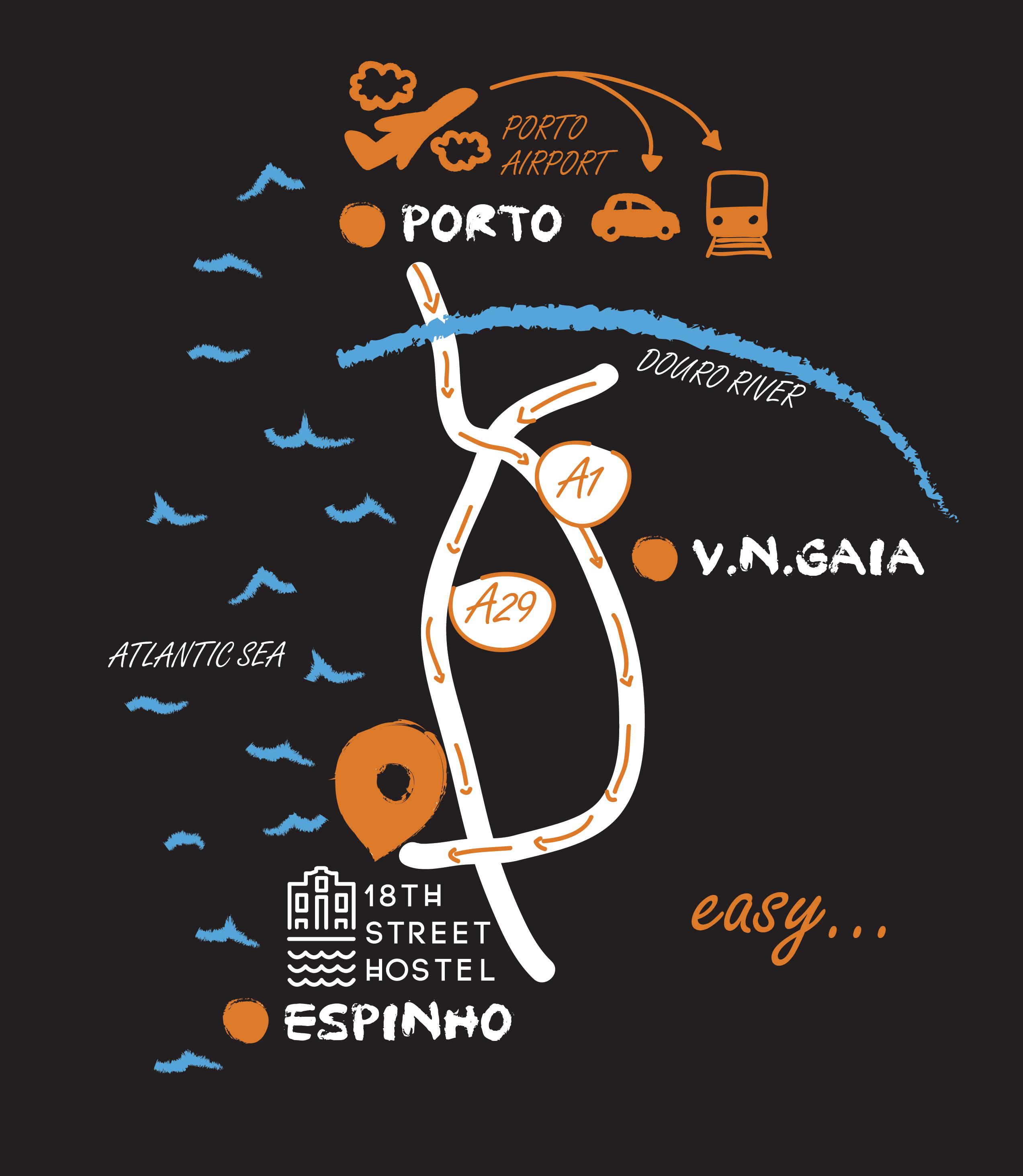 Mapa 18 St. Hostel